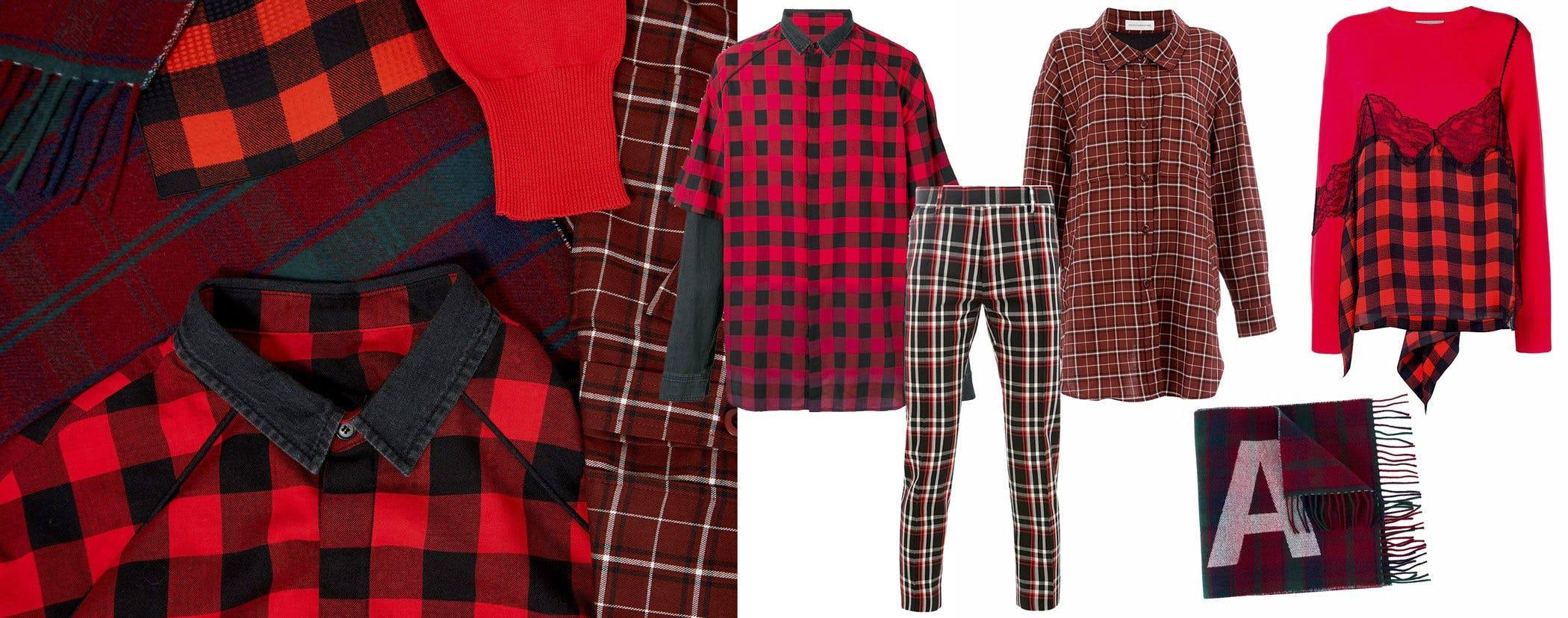 leclaireur-checks-red-fw18